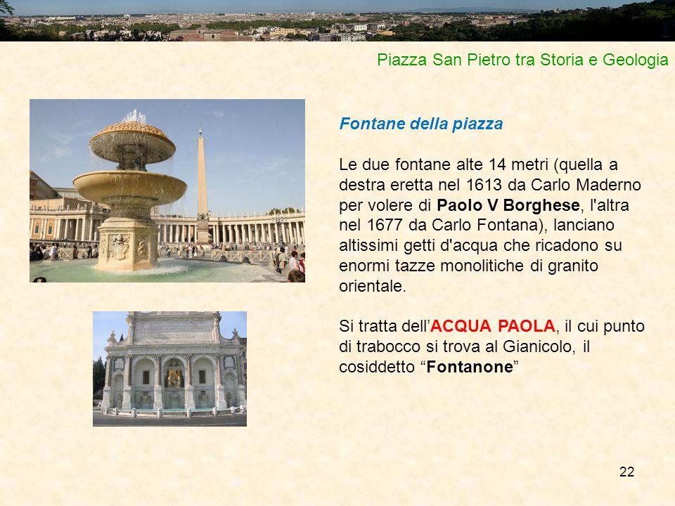 Piazza San Pietro tra Storia e Geologia