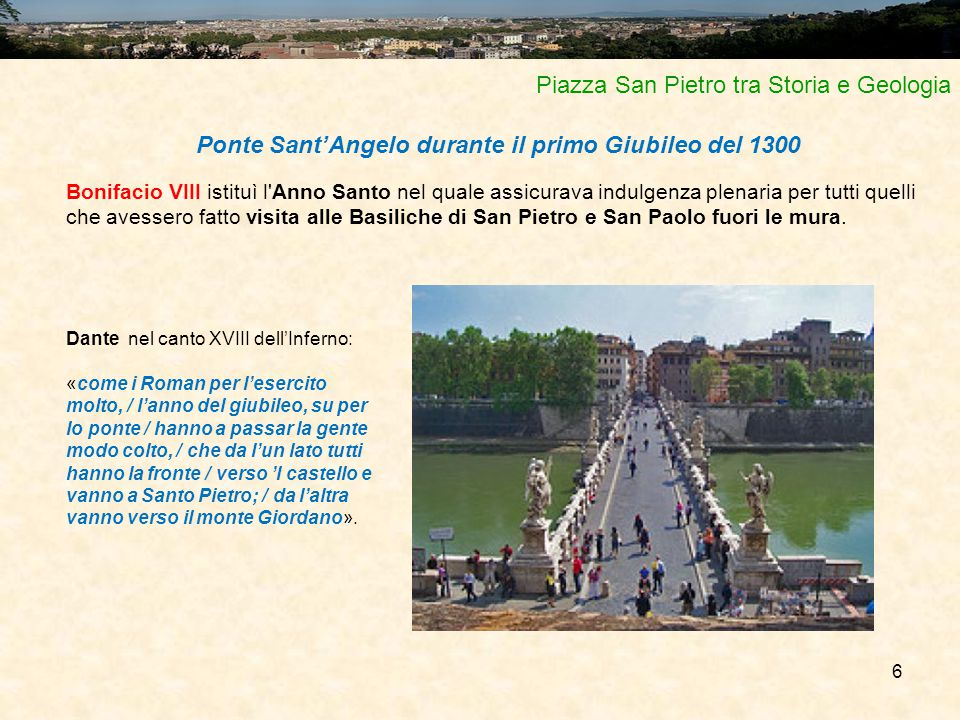 Ponte Sant'Angelo durante il primo Giubileo del 1300