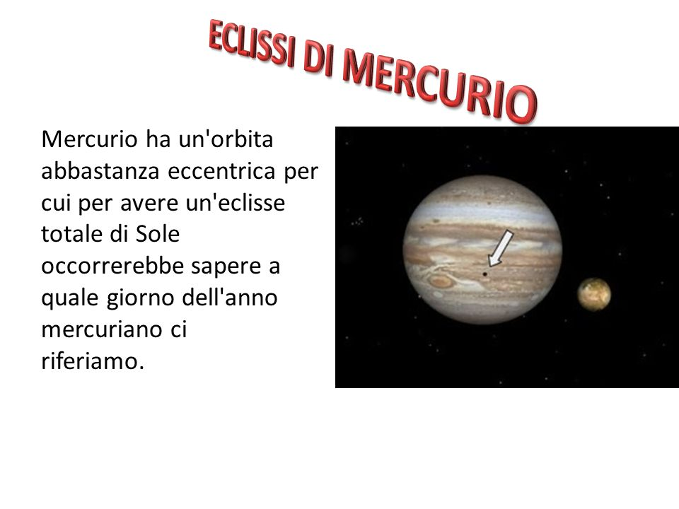 ECLISSI DI MERCURIO