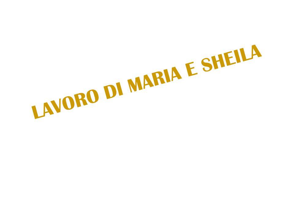 LAVORO DI MARIA E SHEILA