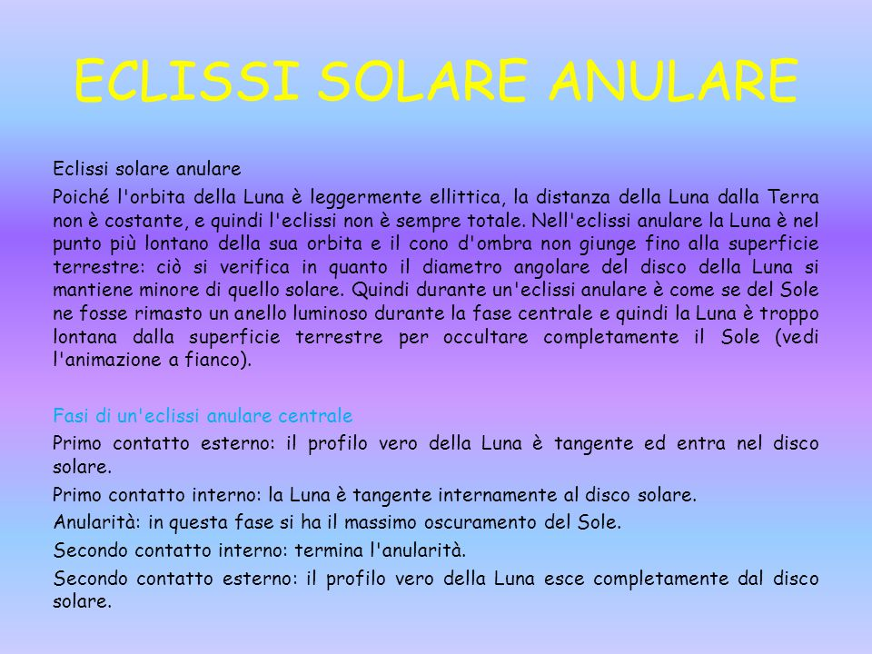 ECLISSI SOLARE ANULARE