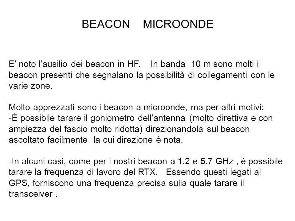 BEACON MICROONDE