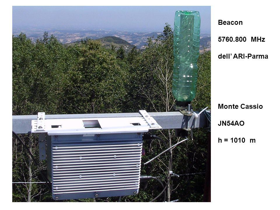 Beacon 5760.800 MHz dell' ARI-Parma Monte Cassio JN54AO h = 1010 m