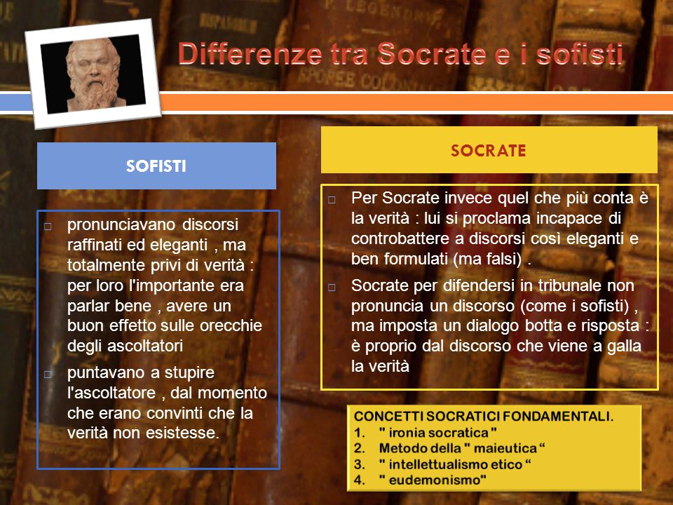 Differenze tra Socrate e i sofisti