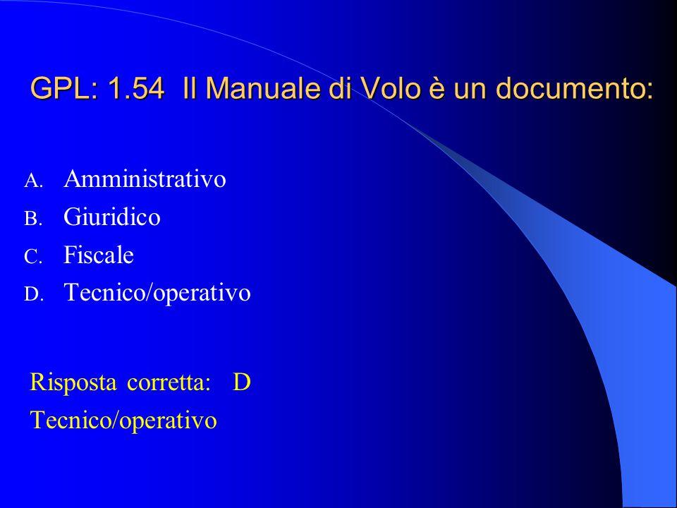 GPL: 1.54 Il Manuale di Volo è un documento: