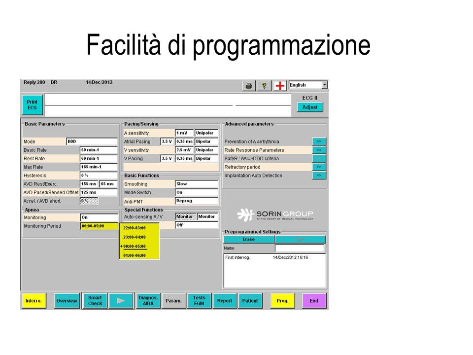 Facilità di programmazione