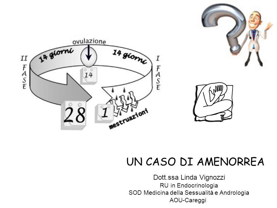 UN CASO DI AMENORREA Dott.ssa Linda Vignozzi RU in Endocrinologia