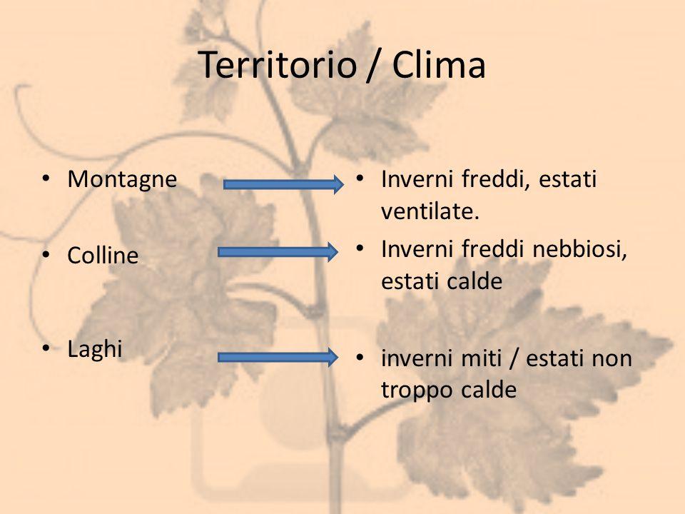 Territorio / Clima Montagne Colline Laghi