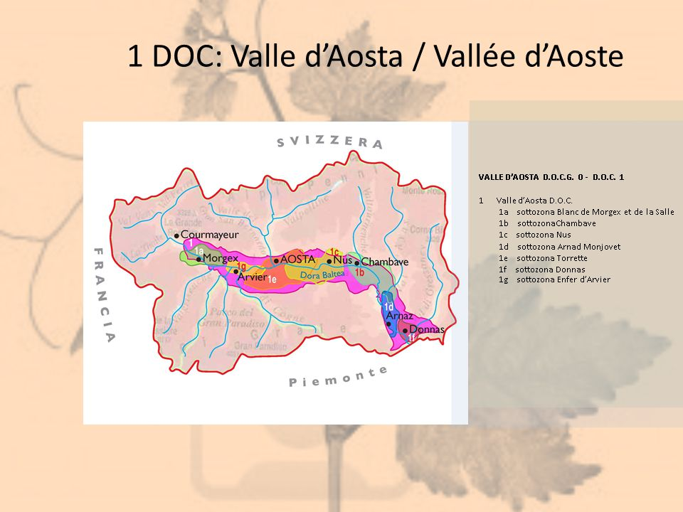 1 DOC: Valle d'Aosta / Vallée d'Aoste