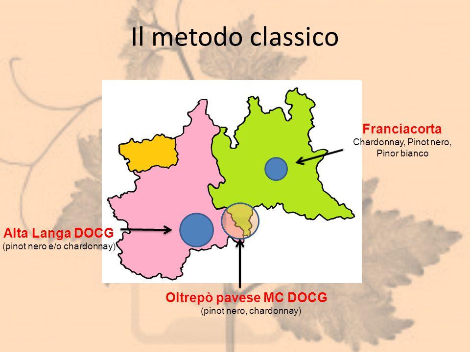Il metodo classico Franciacorta Alta Langa DOCG Oltrepò pavese MC DOCG
