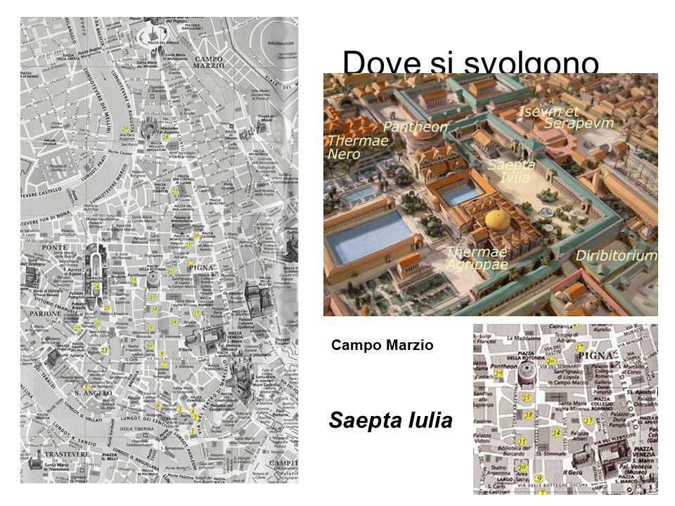 Dove si svolgono Campo Marzio Saepta Iulia