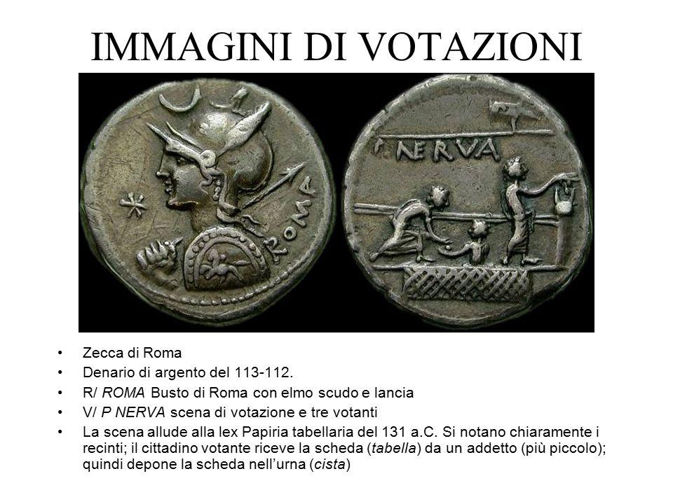 IMMAGINI DI VOTAZIONI Zecca di Roma Denario di argento del 113-112.