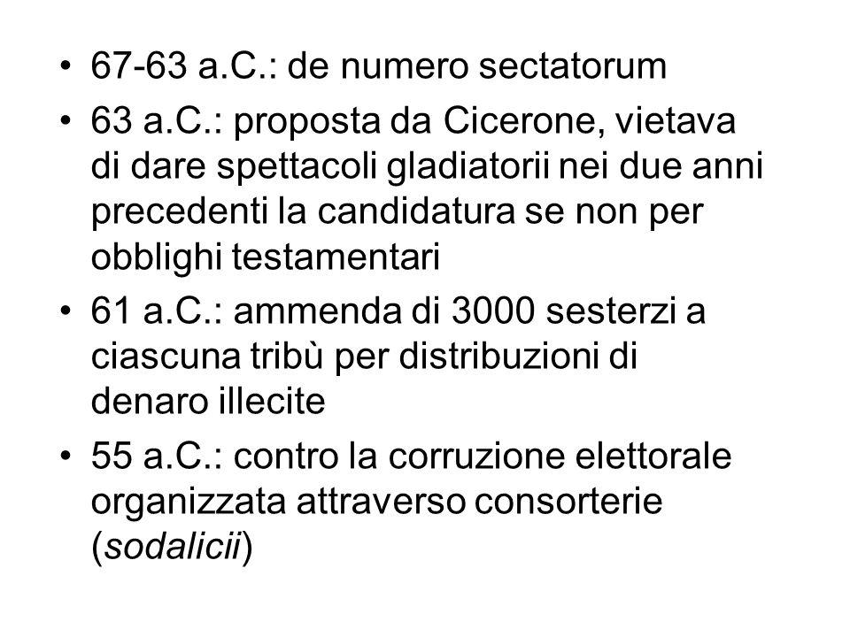 67-63 a.C.: de numero sectatorum