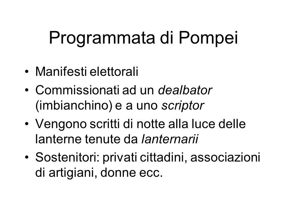 Programmata di Pompei Manifesti elettorali
