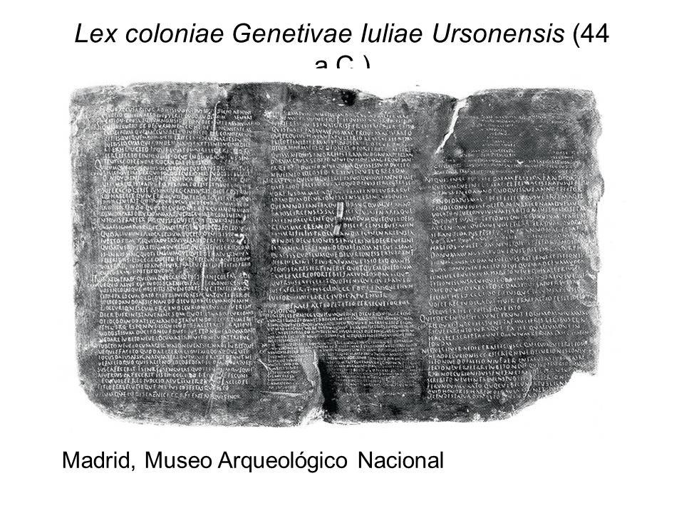 Lex coloniae Genetivae Iuliae Ursonensis (44 a.C.)