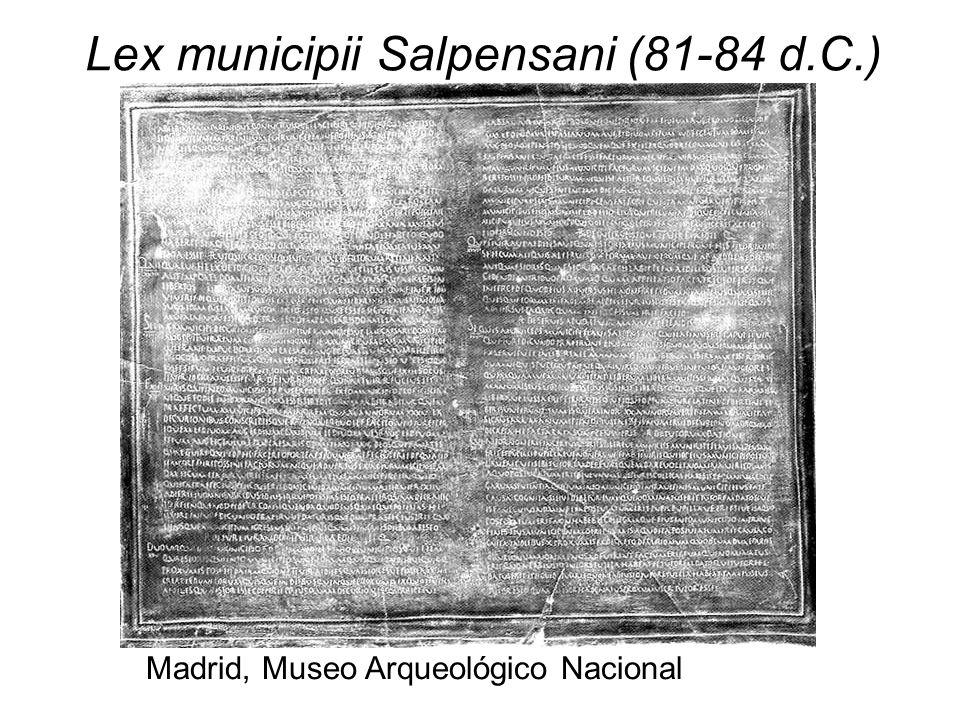 Lex municipii Salpensani (81-84 d.C.)