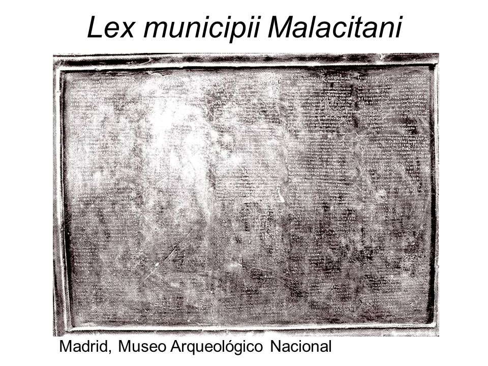 Lex municipii Malacitani