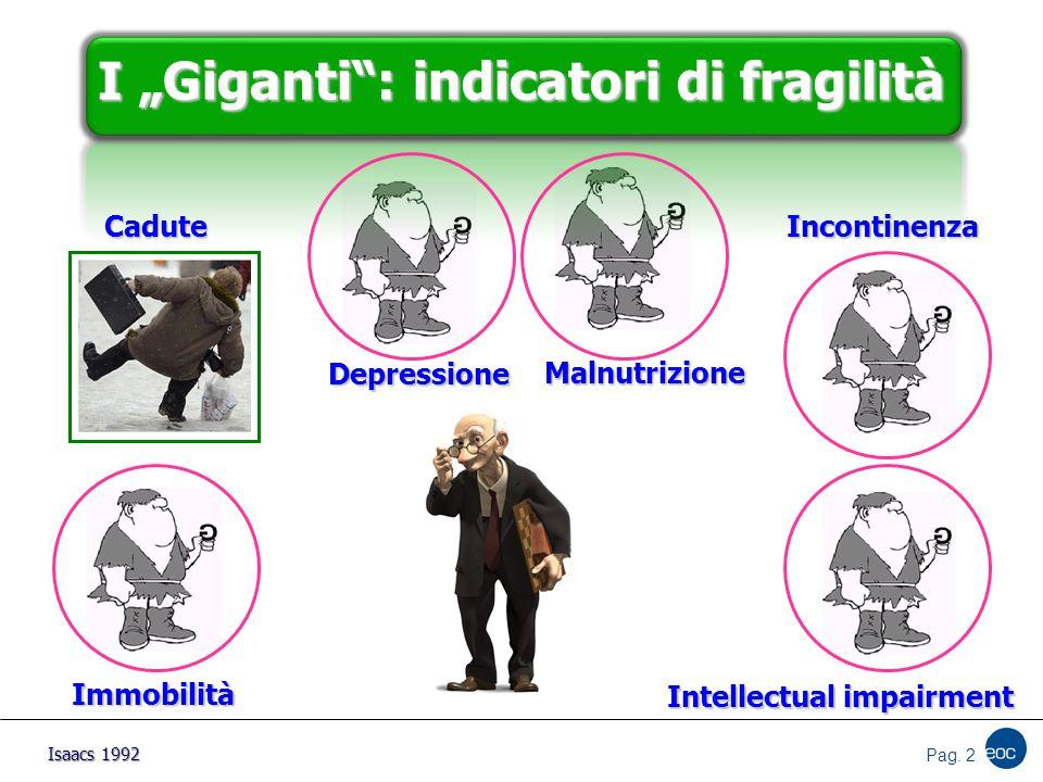 """I """"Giganti : indicatori di fragilità"""