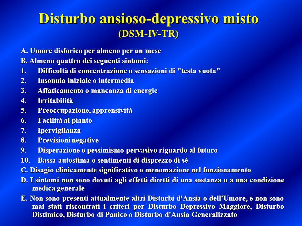 Disturbo ansioso-depressivo misto (DSM-IV-TR)