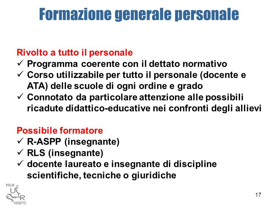 Formazione generale personale