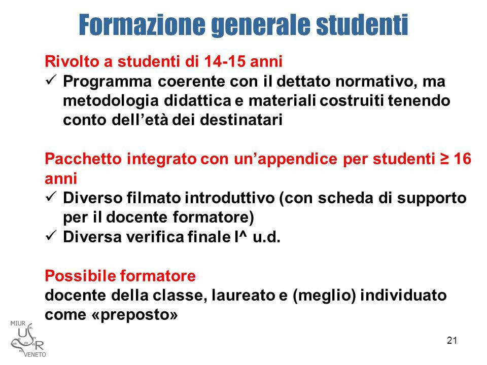 Formazione generale studenti