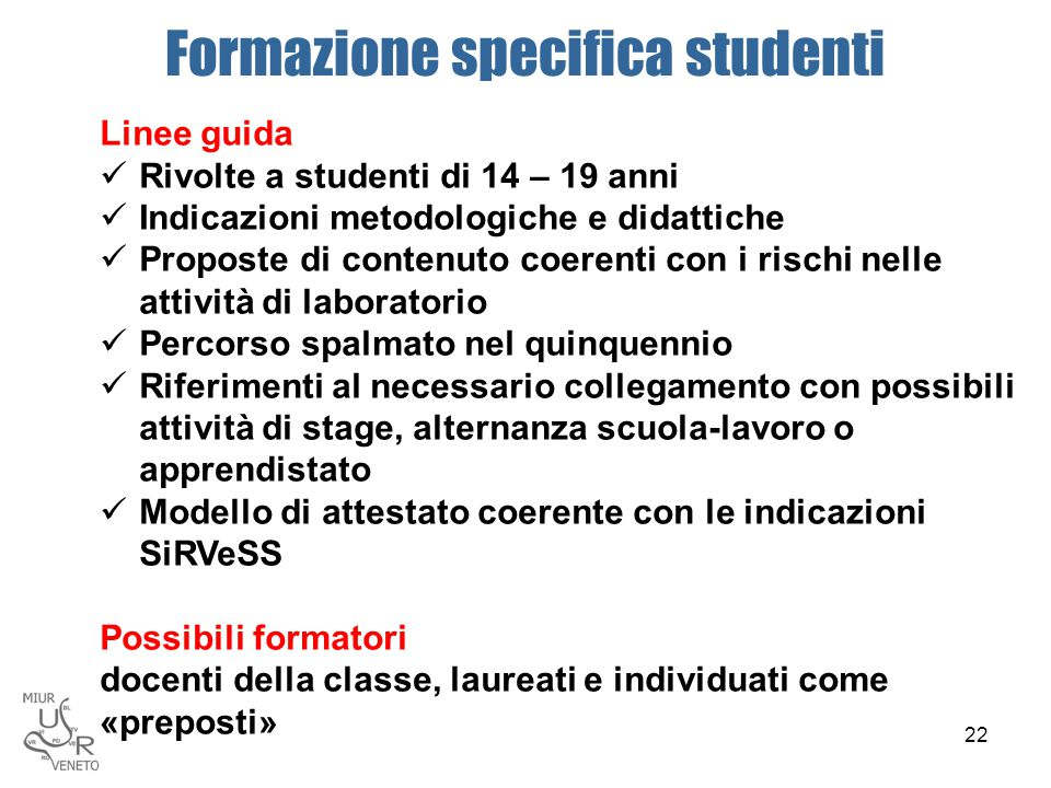 Formazione specifica studenti