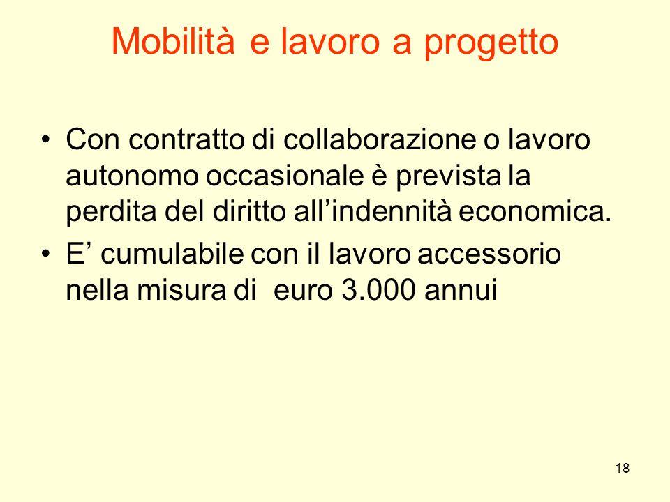 Mobilità e lavoro a progetto