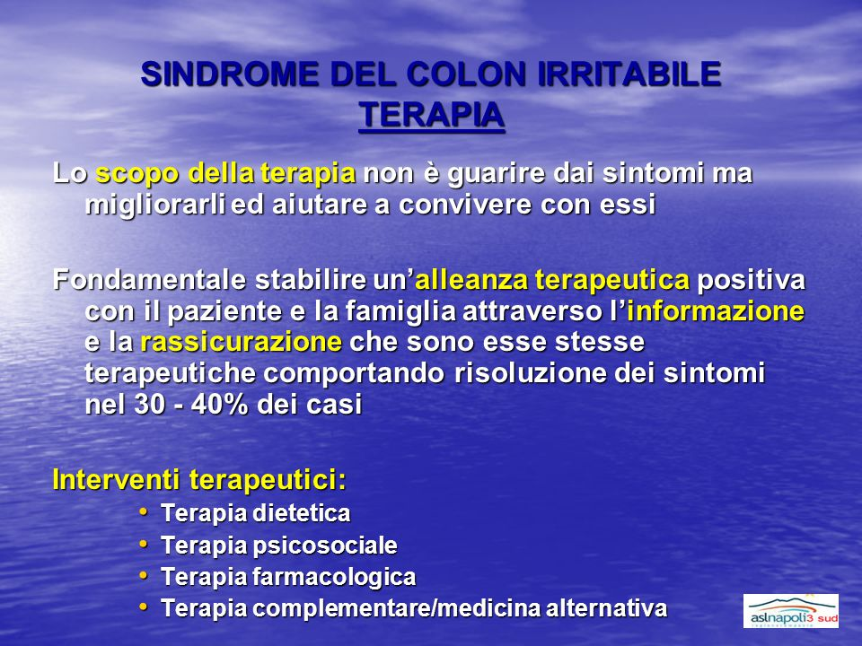 SINDROME DEL COLON IRRITABILE TERAPIA