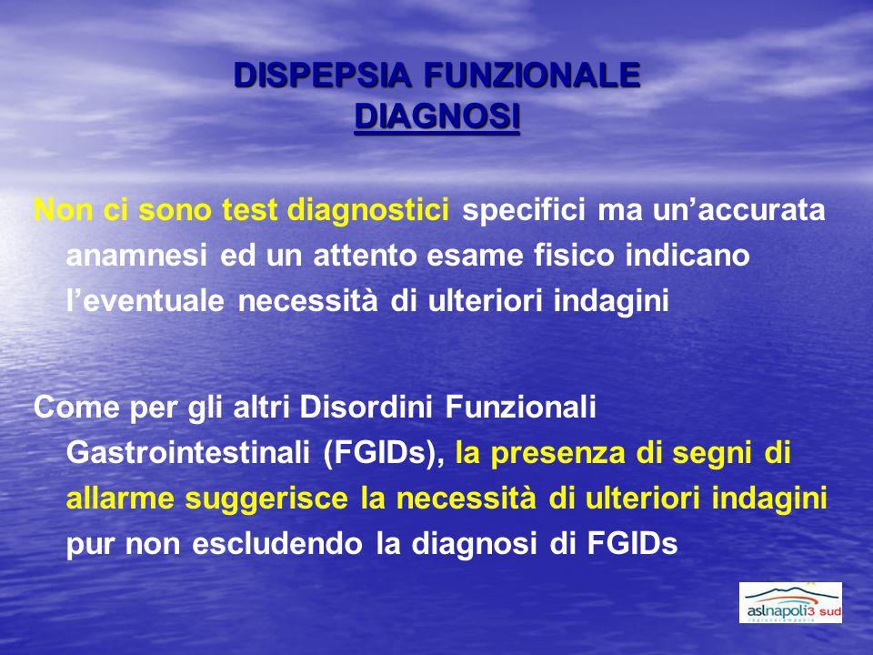 DISPEPSIA FUNZIONALE DIAGNOSI