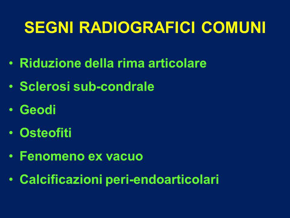 SEGNI RADIOGRAFICI COMUNI