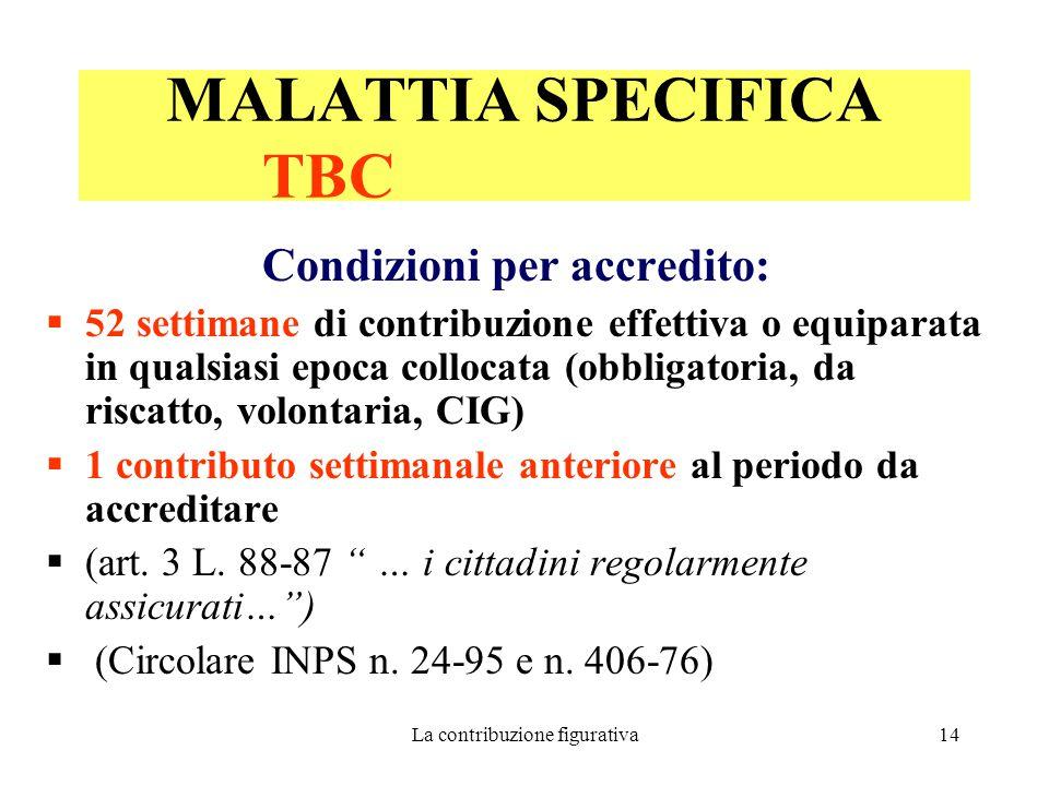 MALATTIA SPECIFICA TBC
