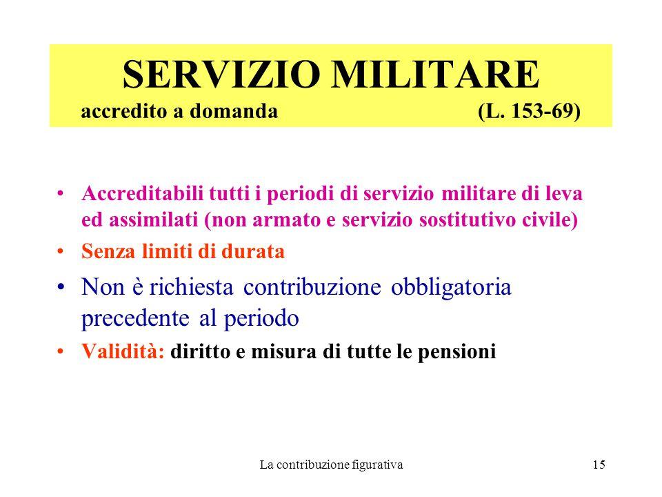 SERVIZIO MILITARE accredito a domanda (L. 153-69)