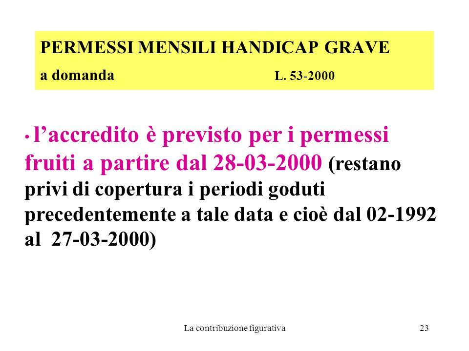 PERMESSI MENSILI HANDICAP GRAVE a domanda L. 53-2000