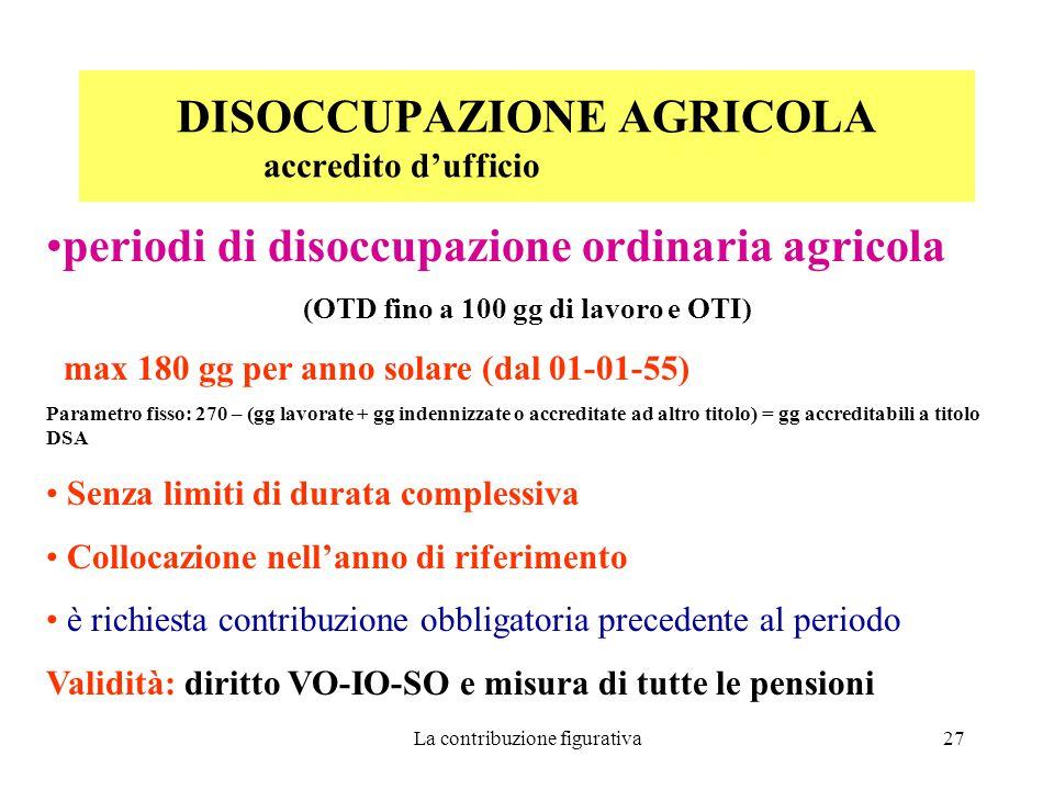 DISOCCUPAZIONE AGRICOLA accredito d'ufficio