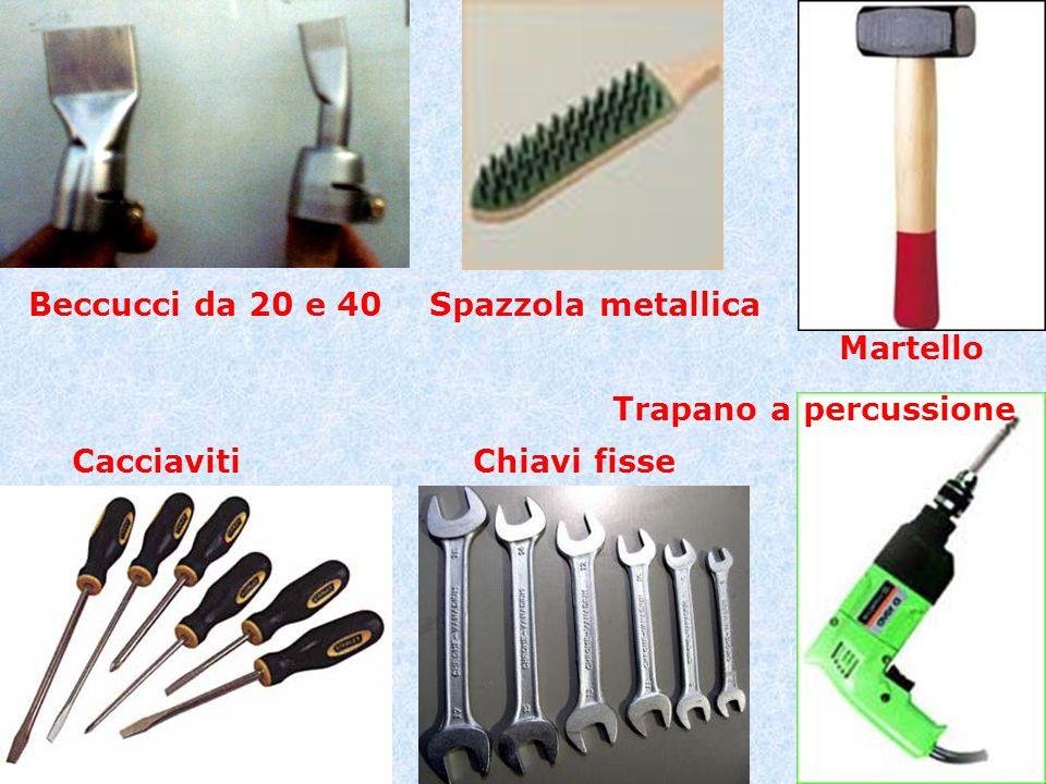 Beccucci da 20 e 40 Spazzola metallica Martello Trapano a percussione Cacciaviti Chiavi fisse