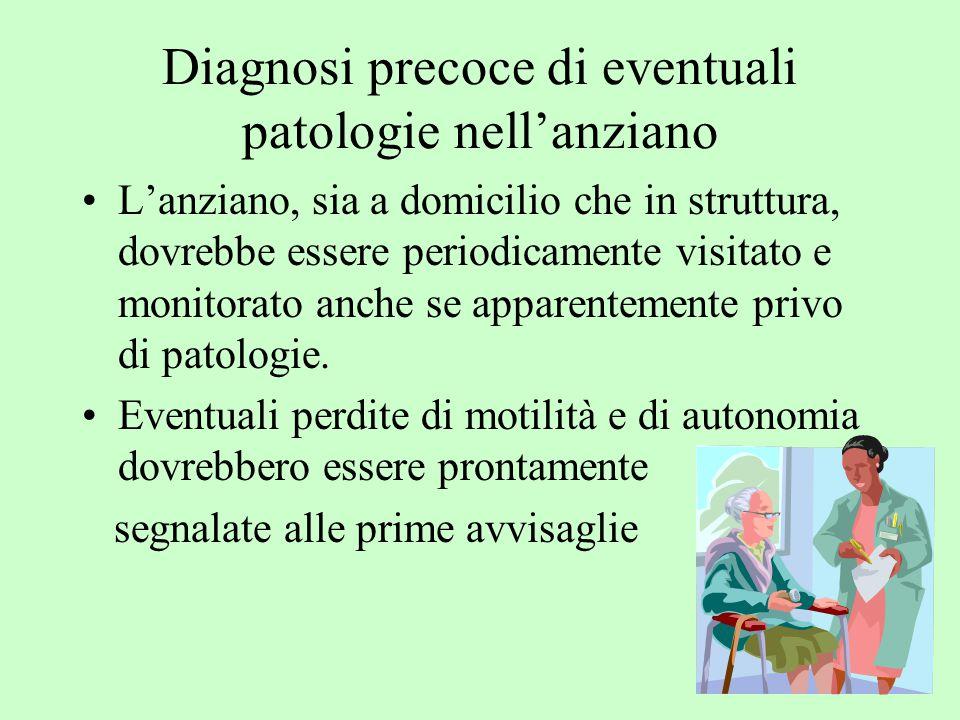 Diagnosi precoce di eventuali patologie nell'anziano