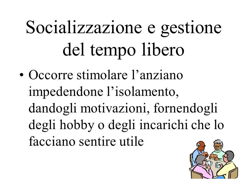 Socializzazione e gestione del tempo libero