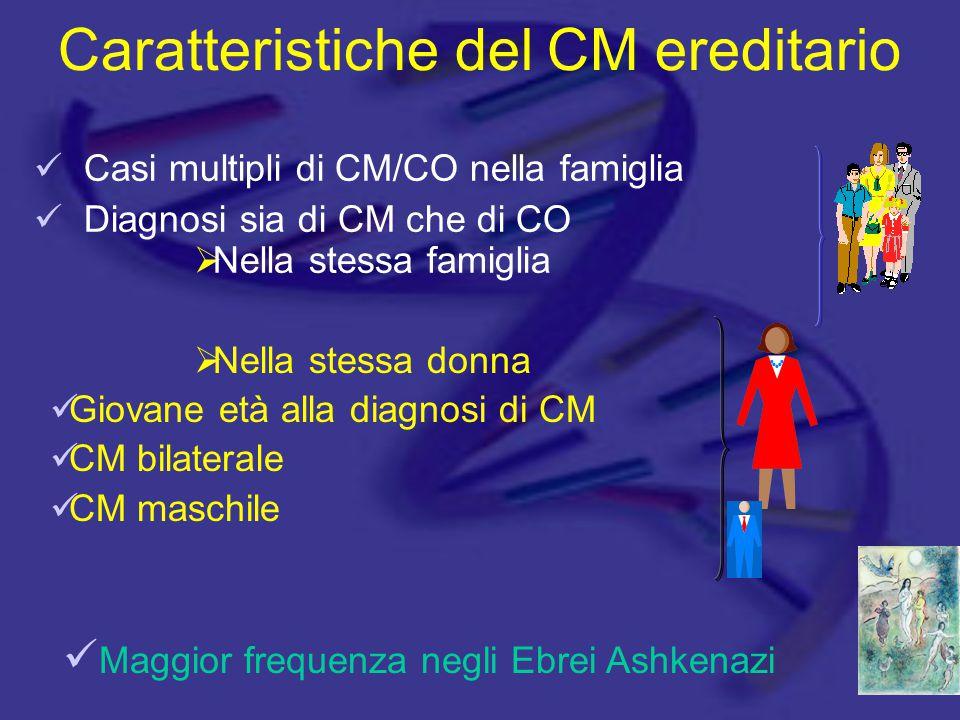 Caratteristiche del CM ereditario