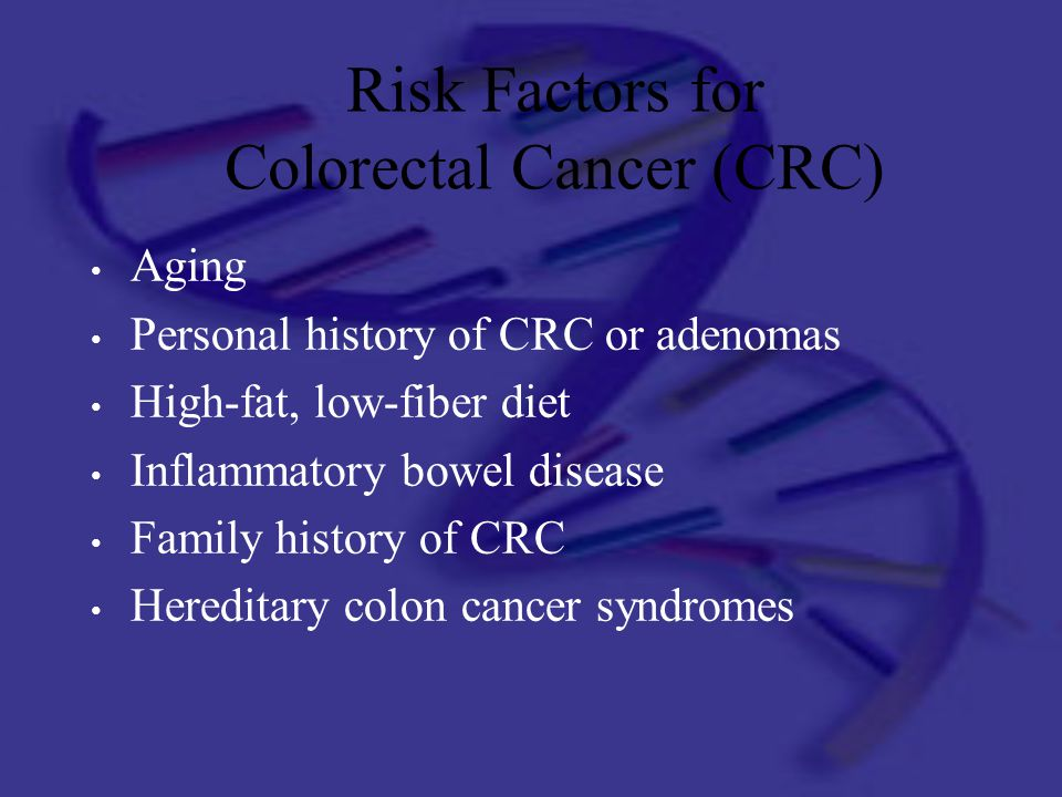 Risk Factors for Colorectal Cancer (CRC)