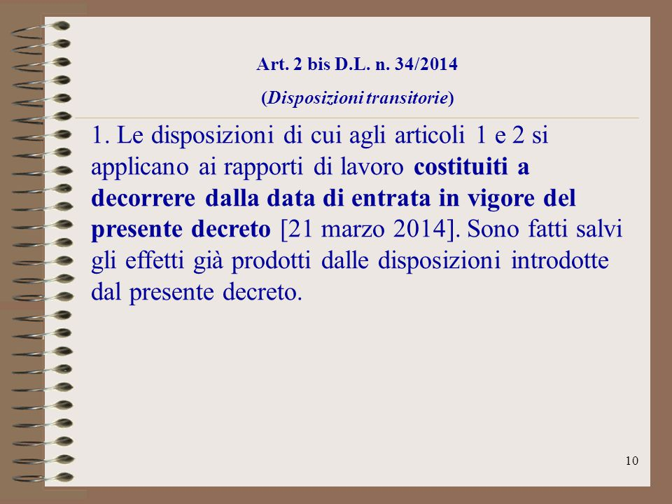 (Disposizioni transitorie)