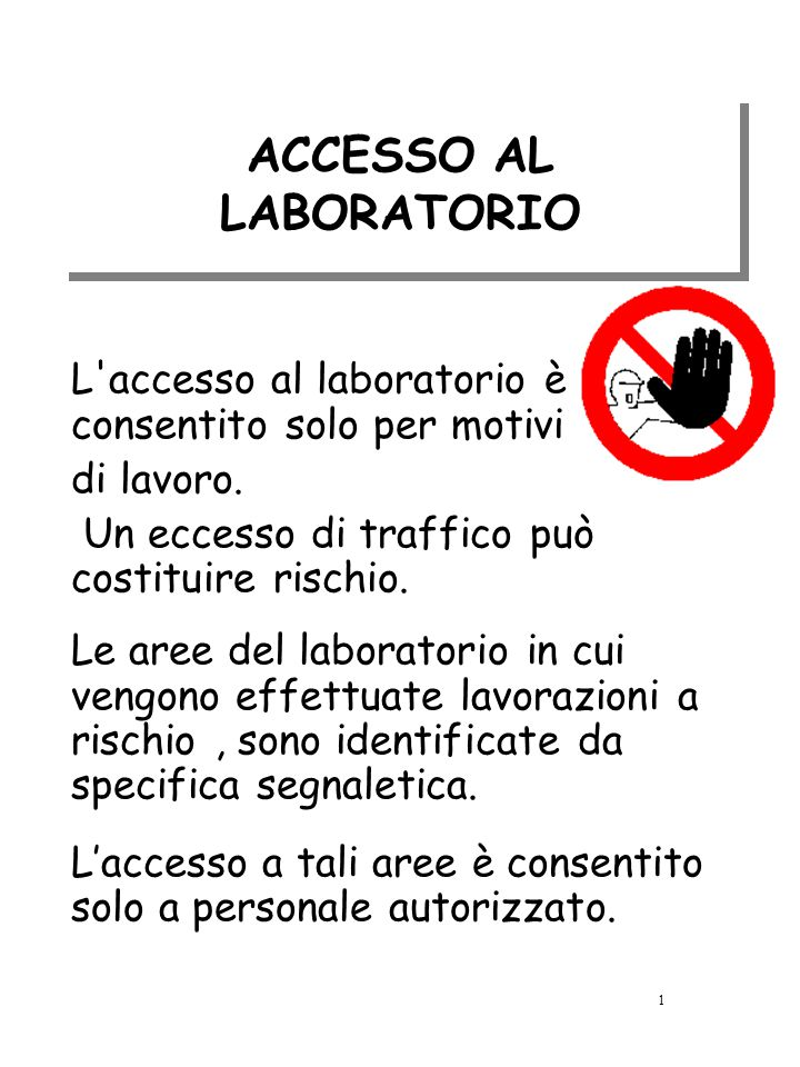 ACCESSO AL LABORATORIO
