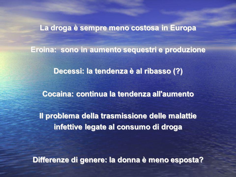 La droga è sempre meno costosa in Europa