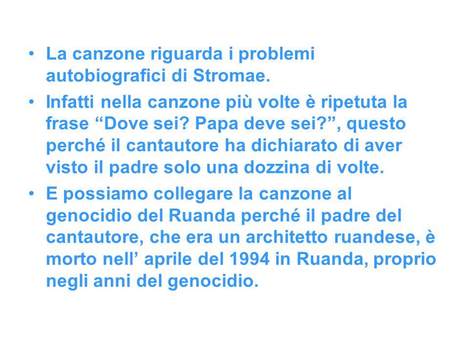 La canzone riguarda i problemi autobiografici di Stromae.