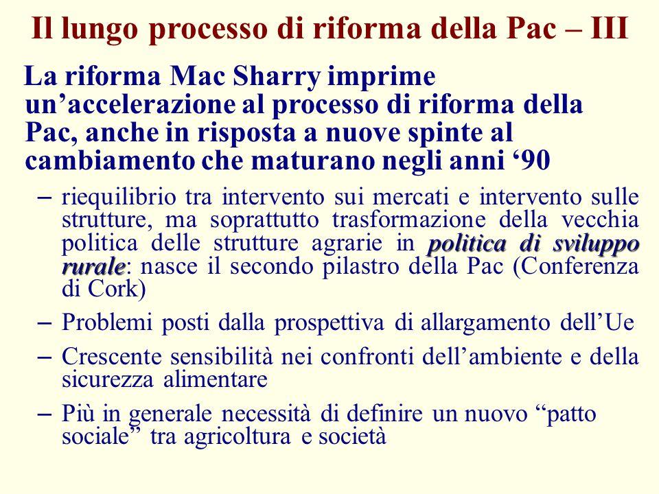 Il lungo processo di riforma della Pac – III