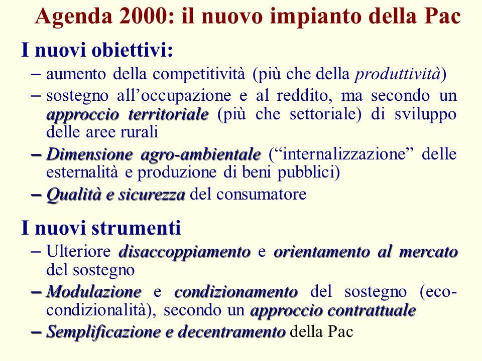 Agenda 2000: il nuovo impianto della Pac