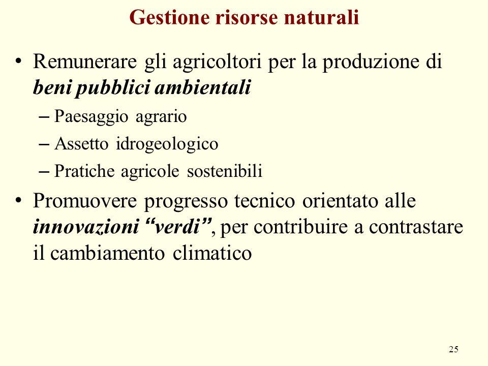Gestione risorse naturali