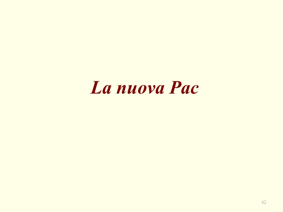 La nuova Pac