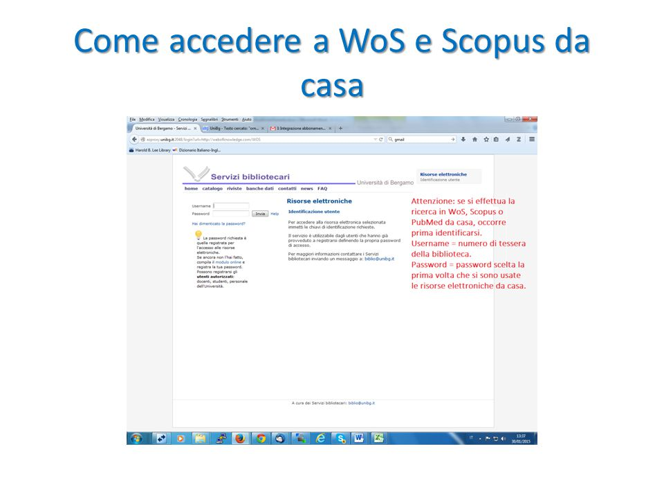 Come accedere a WoS e Scopus da casa