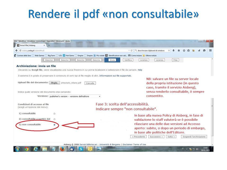 Rendere il pdf «non consultabile»