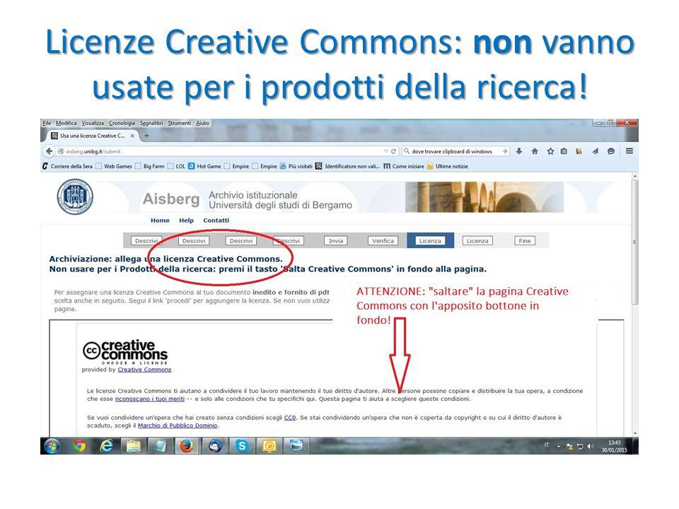 Licenze Creative Commons: non vanno usate per i prodotti della ricerca!